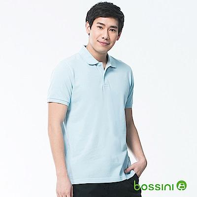 bossini男裝-純棉POLO衫18藍