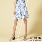麥雪爾 鏤空印花網格百摺短裙
