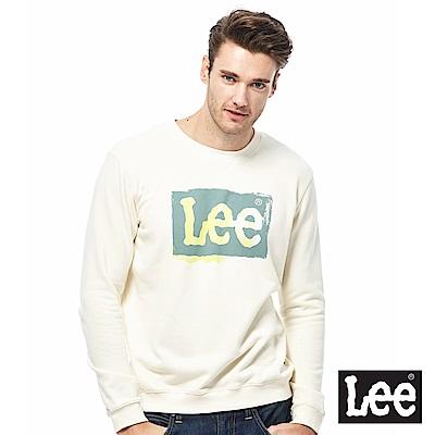 Lee 大LOGO漸層圓領T-男款-白色