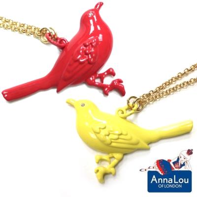 Anna Lou OF LONDON 倫敦品牌 Birdsong 立體青鳥金色項鍊