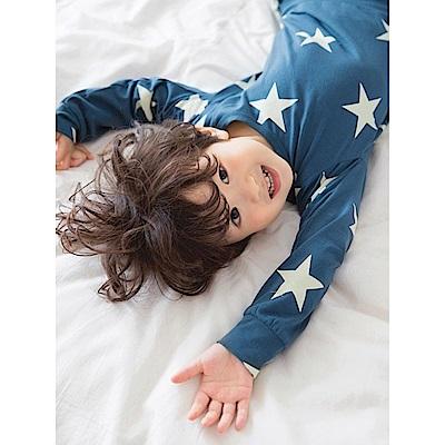 星星印花棉質睡衣-OB大尺碼