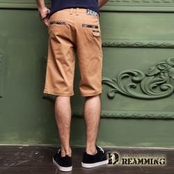 Dreamming 英倫美型格紋休閒伸縮短褲-共二色