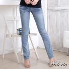 Victoria 直筒褲-女-淺藍