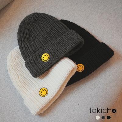 東京著衣 多色可愛微笑毛帽(共三色)