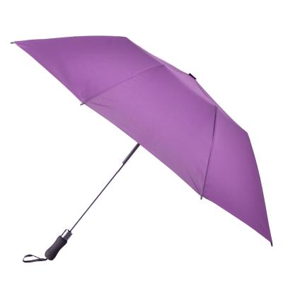 2mm 貝斯運動風 大傘面兩折自動傘 (紫色)