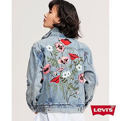 牛仔外套 女裝 Boyfriend 寬鬆版型 刺繡 - Levis