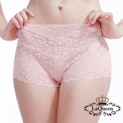 內褲  性感蕾絲親膚蠶絲內褲-粉橘 La Queen