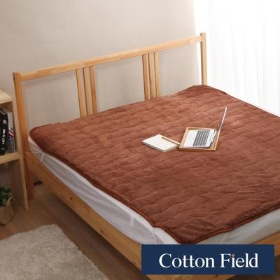 棉花田 暖暖 超細纖維雙人保暖墊-摩卡色