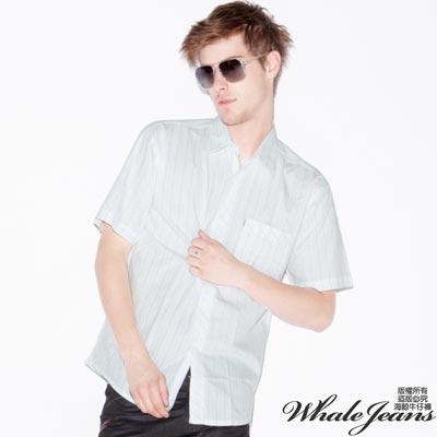 WHALE JEANS 男款素雅時尚系必備直條紋襯衫