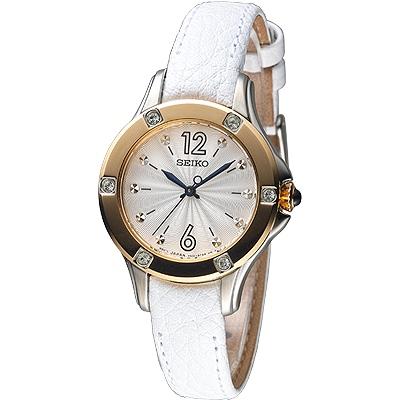 SEIKO 魅力傾城晶鑽時尚女錶(SRZ422P2)-玫瑰金框/30mm