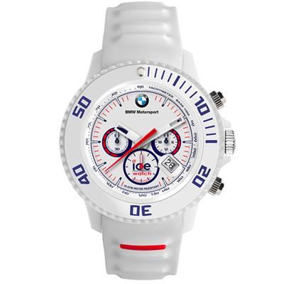 Ice-Watch BMW運動系列 摩登潮流計時手錶-白/48mm