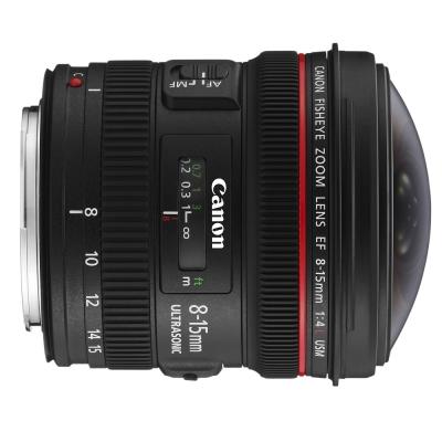 Canon EF 8-15mm f/4L fisheye USM 魚眼鏡頭  (平行輸入)