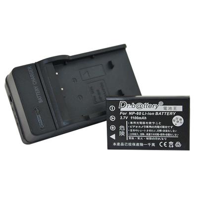 電池王 Fujifilm NP-60 高容量鋰電池+充電器組