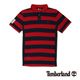 Timberland 男款暗紅色雙色拼接短袖
