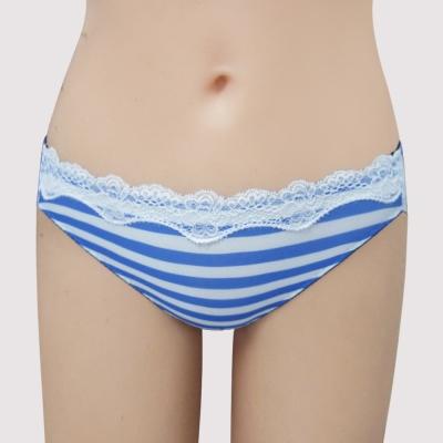 瑪登瑪朵-15春夏S-Select條紋  低腰三角萊克褲(條紋藍)