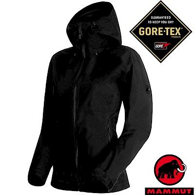 【瑞士 MAMMUT 長毛象】女 Gore-Tex 2.5層頂級防水透氣風雨衣_黑