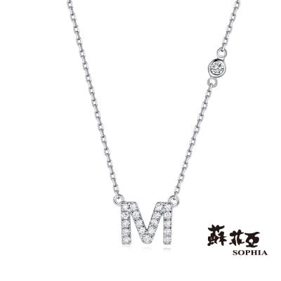 蘇菲亞SOPHIA-鑽鍊-英文字母鍊系列-M字鑽石項鍊-共2色