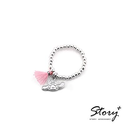 STORY-PinkHolic圓珠純銀彈性戒指-Cinnamoroll喜拿款