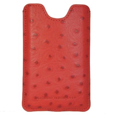 GIORGIO FEDON 1919 4G配件系列 IPHONE套直套式-鴕鳥紋-紅