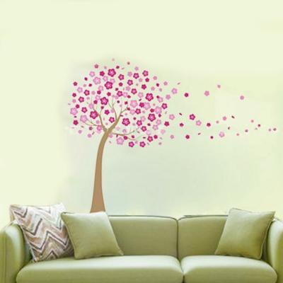 A-081花草系列-風中大樹 大尺寸高級創意壁貼 / 牆貼