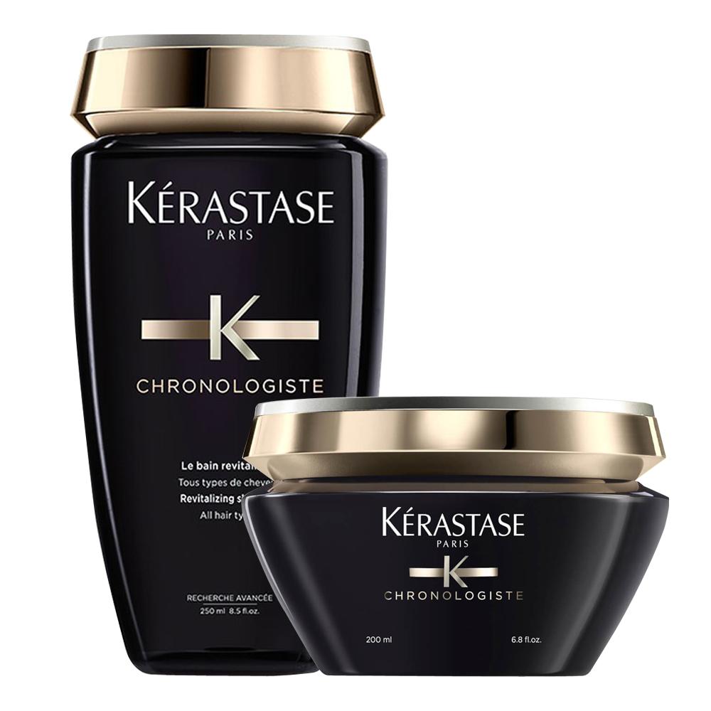 *Kerastase卡詩 黑鑽逆時洗護組(髮浴250ml+髮膜200ml)