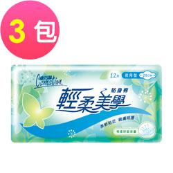 康乃馨 輕柔美學貼身棉 28cm夜用型 12片X3包