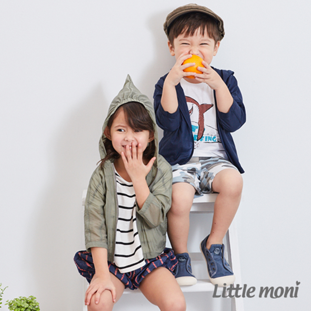 Little moni 休閒素面風衣外套 (2色可選)
