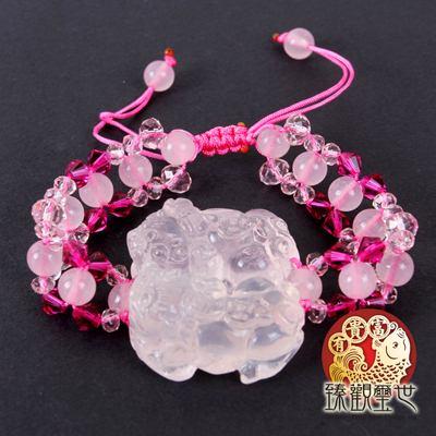 亮麗粉晶貔貅手鏈 /手鍊