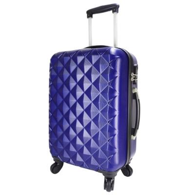 NINORIVA 20吋時尚深藍菱格行李箱(P200003)