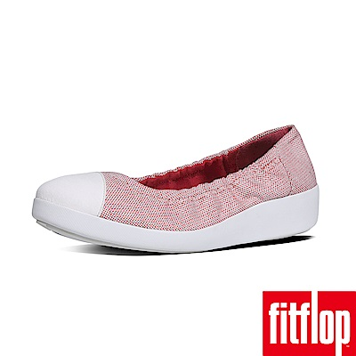 FitFlop F-POP TM BALLERINA CANVAS粉紅