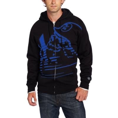 [摩達客]美國進口【Metal Mulisha】超酷藍骷髏標誌連帽外套
