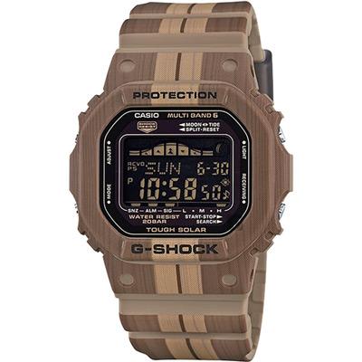 G-SHOCK 卡西歐 太陽能電木質樸感衝浪休閒錶(GWX-5600WB-5)-43mm