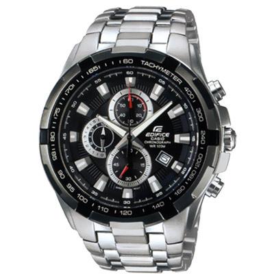 CASIO 科技新貴F1指針賽車錶(EF-539D-1A)-黑色