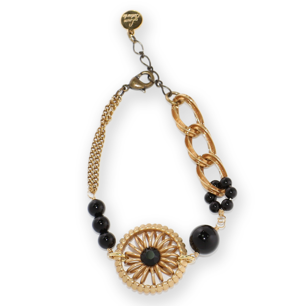 Luce Costante Ronde系列黑瑪瑙圓輪手鍊