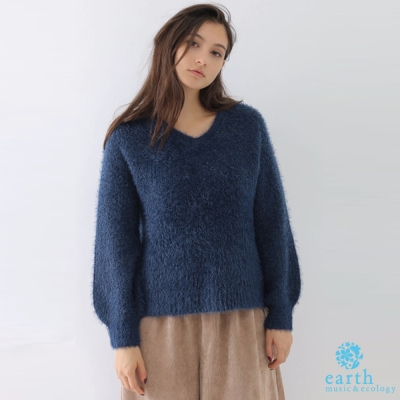 earth music 氣質毛海側開衩針織毛衣