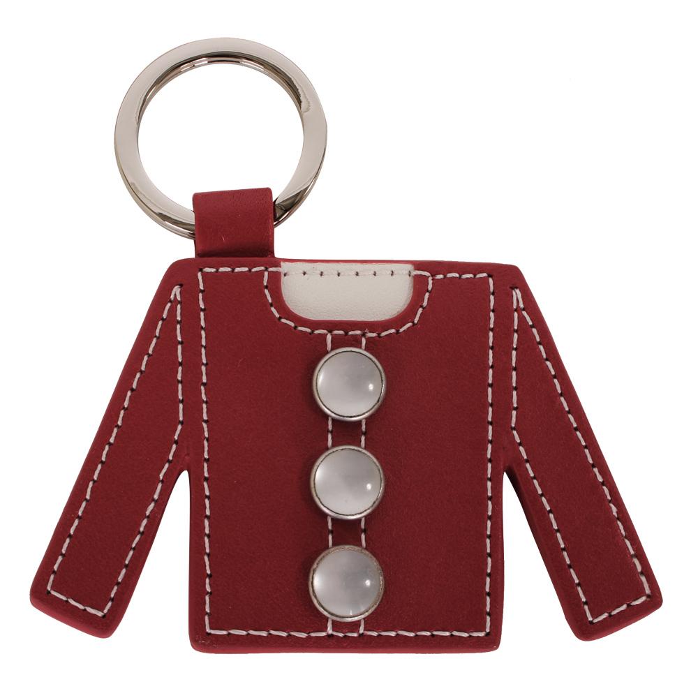 agnes b. 衣服造型皮革鑰匙圈-紅色