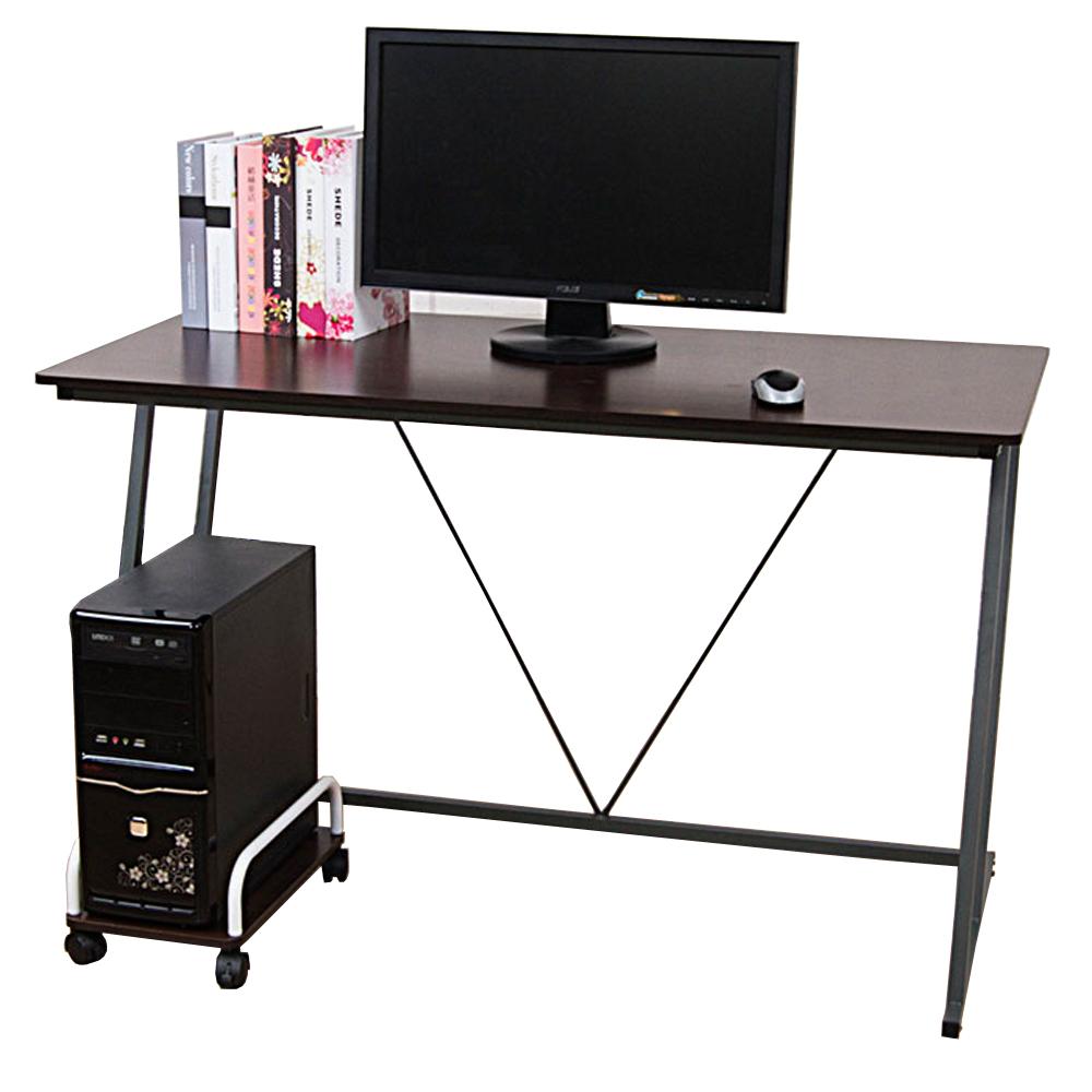 凱蒂附電線孔蓋Z型工作桌/電腦桌(寬120cm)+主機架(2色)