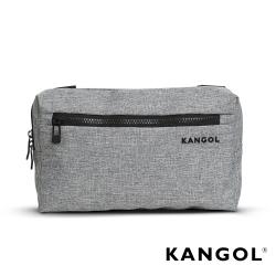 KANGOL 韓國經典側背休閒包/學生包/情侶包-混織灰