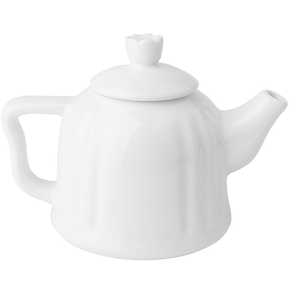EXCELSA Chic陶製茶壺(白0.6L)