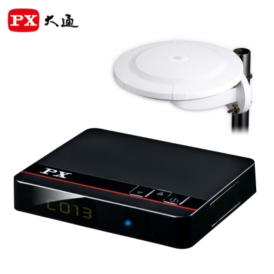 PX大通HD-8000+HDA-6000高畫質數位電視接收機+高畫質萬向天線