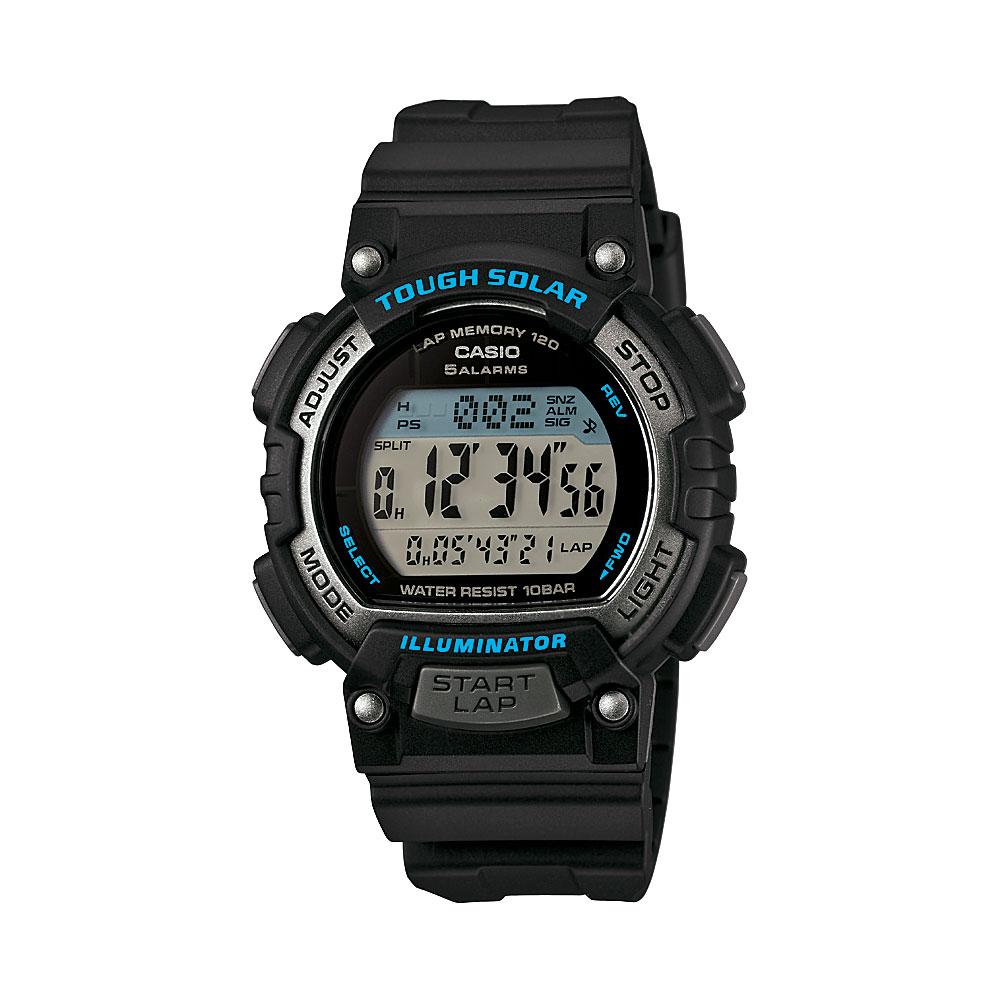 CASIO 太陽能輕量型全方位運動風數位錶(STL-S300H-1A)-藍x黑/36mm