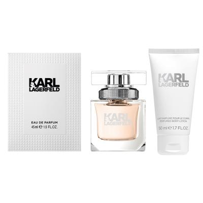 KARL LAGERFELD 卡爾同名時尚女性淡香精45ml(贈同名身體乳50ml)