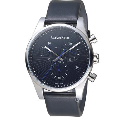 Calvin Klein cK 計時功能錶(K8S271C1)黑/42mm