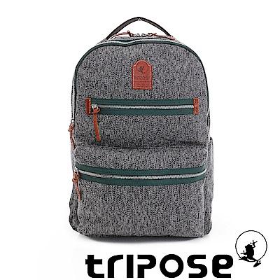 tripose 岩紋系列岩紋潮感輕旅後背包 綠