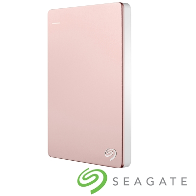 Seagate Backup Plus Silm 2TB 2.5吋行動碟-玫瑰金