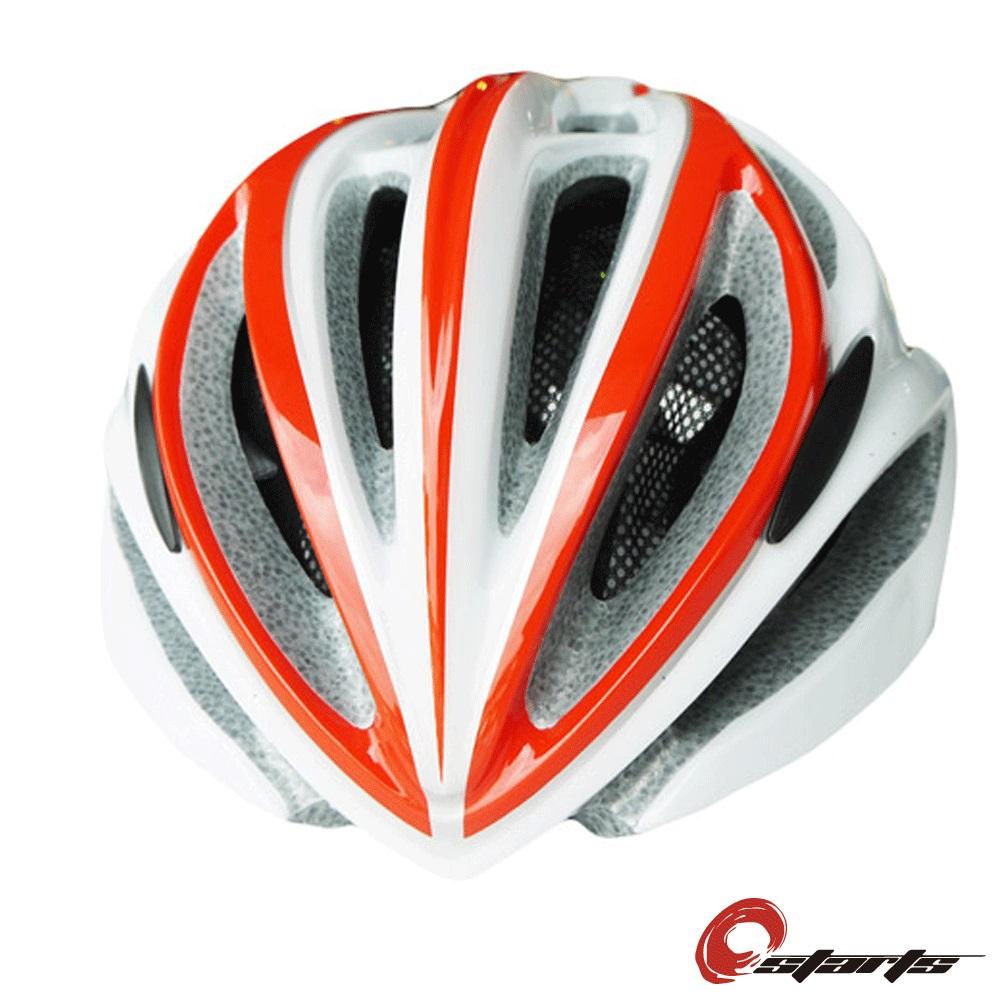 《OSTARTS》 super light安全帽 白/紅