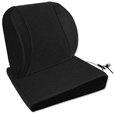源之氣 竹炭記憶透氣護腰+加高臀部釋壓Q坐墊組合