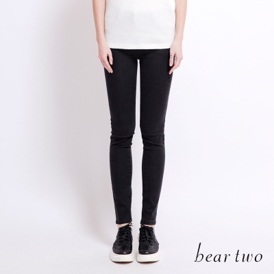beartwo 格紋車線造型合身窄管長褲(二色)-動態show