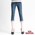 BRAPPERS 女款 新美腳Royal系列 彈性鑲鑽七分反摺褲