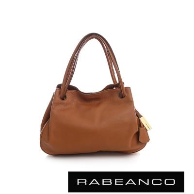 RABEANCO OL時尚粉領系列柔軟肩背包 奶油蘭姆酒棕